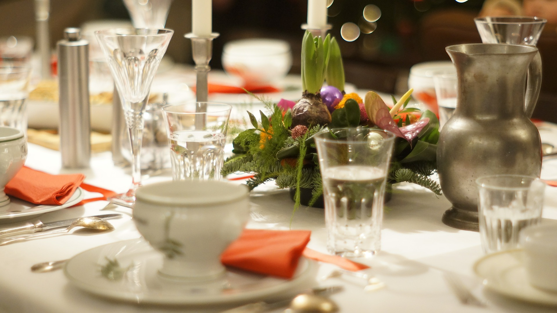 A table set for formal dining