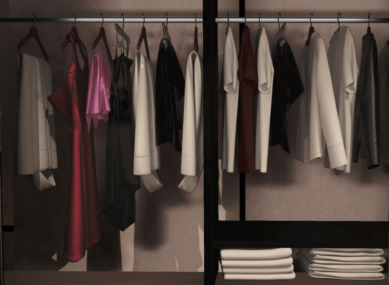 Wardrobe cleared of holiday clutter