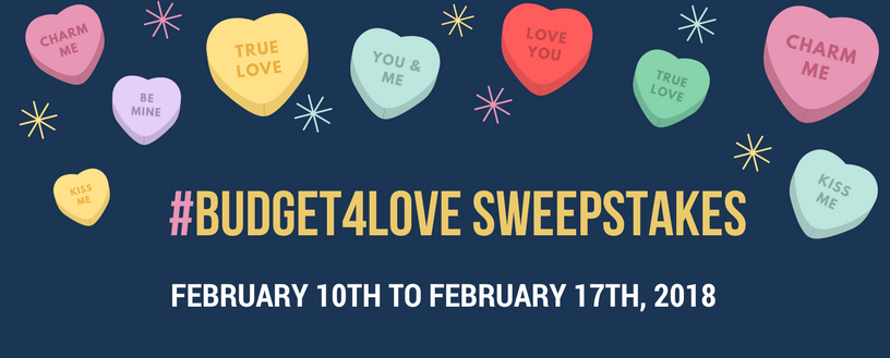 MoneyKey Budget4Love Sweeptakes Feb 10 to Feb 17, 2018