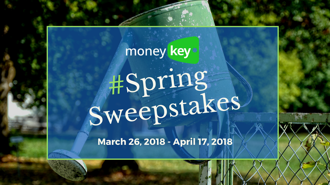 MoneyKey Spring Sweepstakes March 26 - April 17, 2018