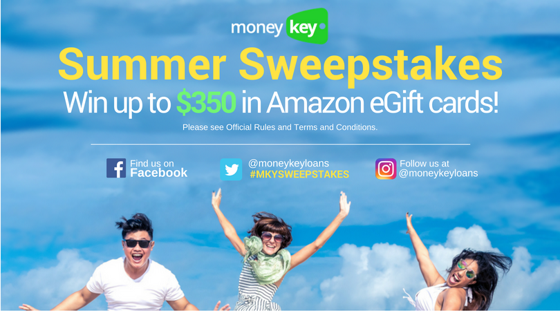 MONEYKEY SUMMER SWEEPSTAKES! JUNE 18 – JULY 23, 2018 - MoneyKey