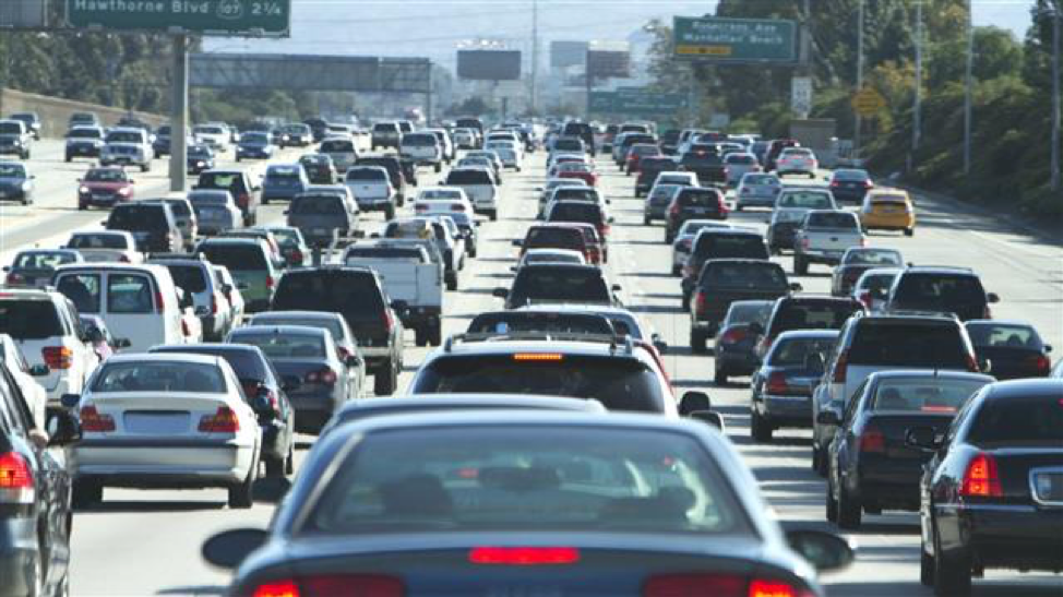Commuters on California Interstate 105