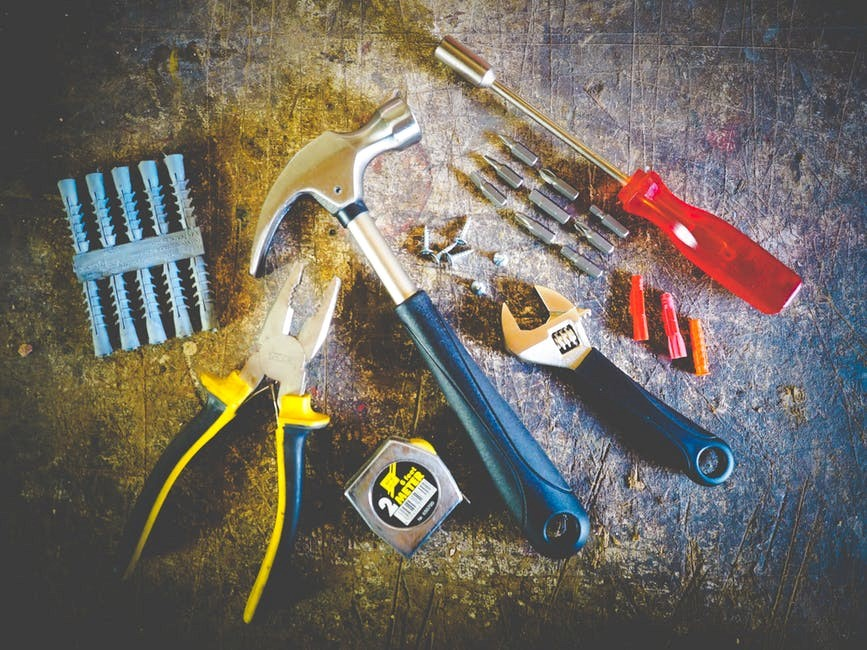 a set of work tools
