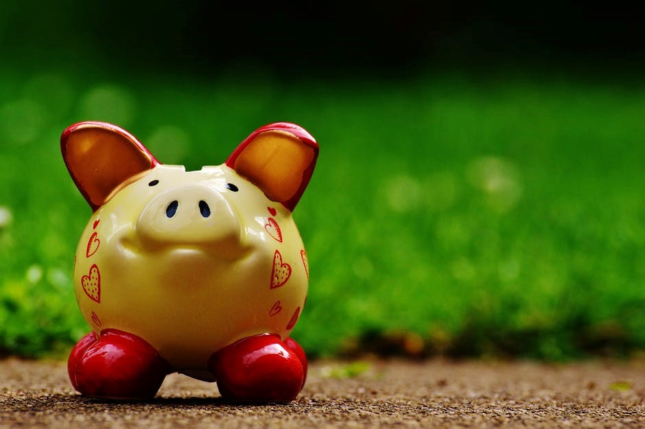 Piggy bank to save money and create emergency fund