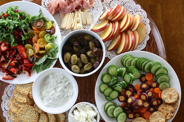 healthy snack ideas on a platter