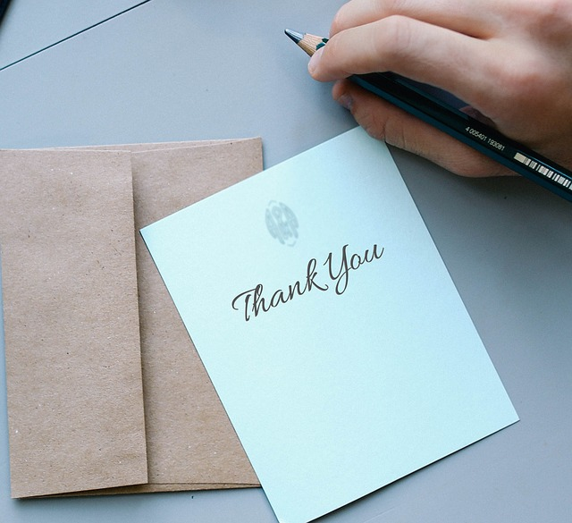 thank you note for a job interview