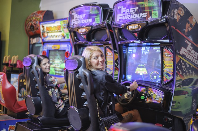 go to retro arcade bar for your cheap date night