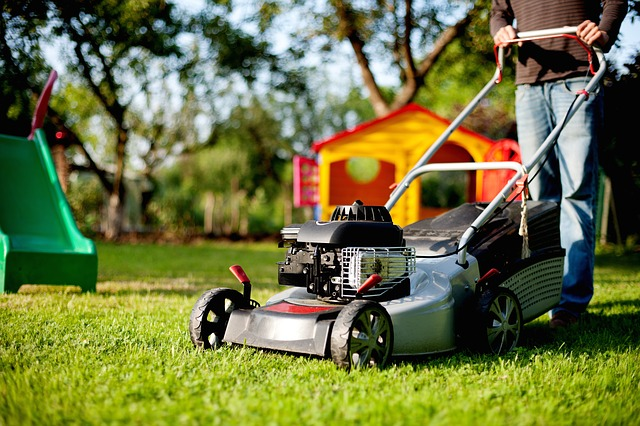 swap services like lawn mowing with neighbors to get free babysitting services